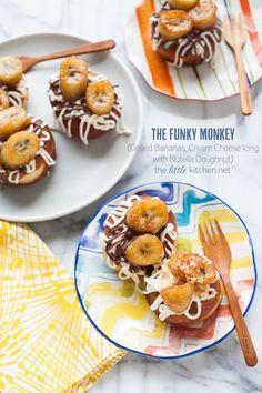 Funky Monkey Doughnut with Nutella | TheLittleKitchen.net