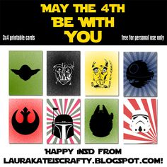 FREE printables: May the Force be with you.