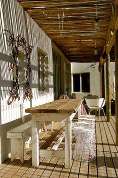 rustic outdoor set-up