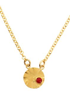 Just because you wear a necklace every day doesn't mean it has to be completely neutral. This gold-plated bronze pendant comes with eight semi-precious stone options, from pearl to turquoise, and it's tiny enough that it won't clash with your outfit (ever).