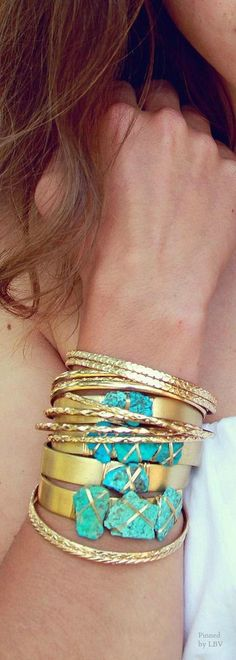 Turquoise and gold | LBV ♥✤ | BeStayBeautiful