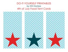 4th of July Food Tent Printables
