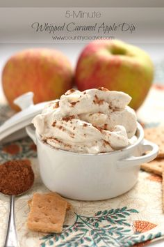 5-Minute Whipped Caramel Apple Dip