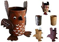 Art Projects for Kids: Soup Can Mache Owl