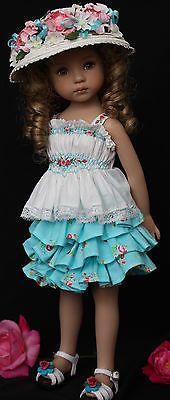 "Smocked Embroidered Outfit for Dianna Effner's 13"" Little Darling Dolls | eBay. Ends 5/4/14."