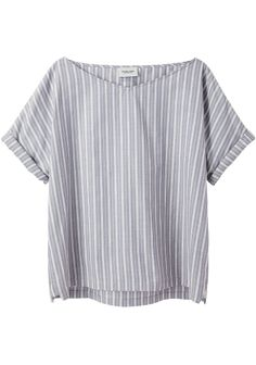 this would be so comfy....  dolman sleeves, offset hem (I know there's a word for it, but I can't think of it at the moment), slight v-boatneck and cuffs.