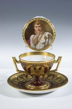 Tasse Bohemia? Porcelain Cup Saucer Napoleon