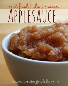 Real Food Slow Cooker Applesauce...super easy recipe! {Yum!}