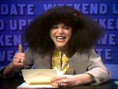 Rosanna RosannaDanna.  Vintage 70's SNL; classic Gilda Radner! She always made you laugh!!