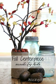 Fall Centerpiece Craft for Kids ~ Simple and fun.