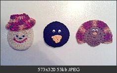 Thanksgiving Fridgies - free crochet pattern