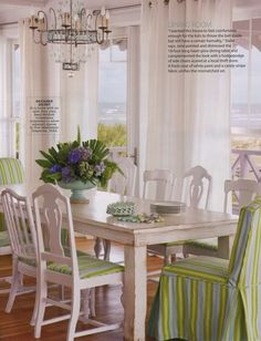 decor, dining rooms, beaches, beach cottages, dine room, chairs, beach hous, white, coastal living