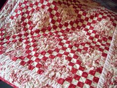 Floral Irish Chain from Pamela (Pamela Quilts)  love the reds!
