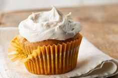 Pumpkin Cupcakes with Cinnamon-Cream Cheese Frosting recipe