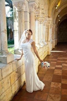 DB Bride Quelita P. Wearing David's Bridal Studio Style XS3450 #davidsbridal #weddingdresses