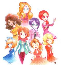 The girls of the Professor Layton series!