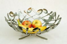 I love this   Anyone know someone who could make one?  Silverware Bowl by Brian Mock Art