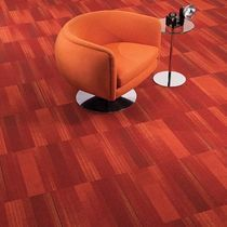 Commercial tufted and loop pile synthetic carpet tile (Green Label Plus-certified, low VOC emissions)