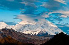 Clouds over Mt McKinley seen on one of our favorite backpack trips. Mt Eielson Loop in Denali National Park, Alaska.