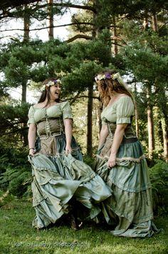 cute green medieval dresses