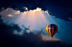 Rays of sun in a hot air balloon? Yes, please!