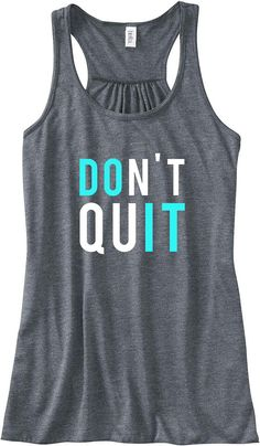 Don't Quit, Do It Train Gym Tank Top Flowy Racerback Workout Custom Colors You Choose Size & Colors on Etsy, $24.00