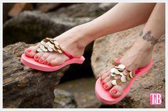 DIY Flip Flops with Paillettes Photo 2