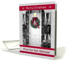 Merry Christmas From Our New Address! | Greeting Card Universe by Doreen Erhardt