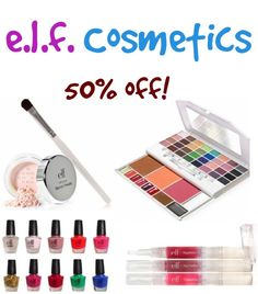 e.l.f. Cosmetics Sale ~ 50% off Spring items! #makeup