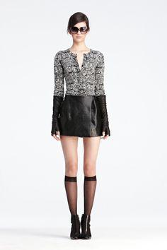 DVF   Ibiza Sweater In Tweed Black/ White, Pre-Fall 2012: Macadam Diva