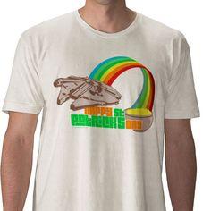 Star Wars Millenium Falcon Rainbow Hyper Space St. Patrick's Day tshirt - Love <3