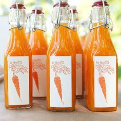 carrot lemonade bottles