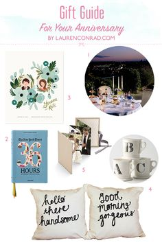 Anniversary Gift Guide {great ideas for your boyfriend, fiance or husband}