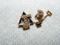 10K Delta Gamma sorority pin with seed pearls by camelcastings, $125.00