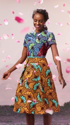 Short-sleeved dress | Vlisco V-Inspired