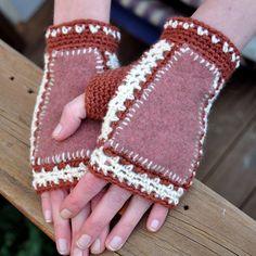 Possum fabrics and crochet mitts