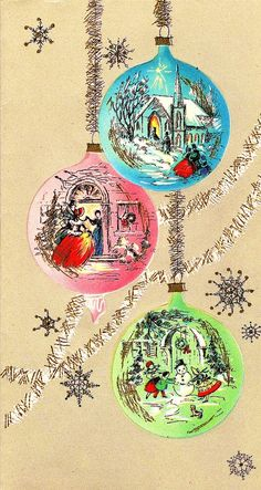 Vintage Christmas card  → For more, please visit me at: www.facebook.com/jolly.ollie.77