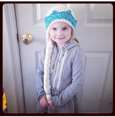 A pinner said: Elsa hat I made for my niece Noelle!! #disney #frozen #elsa #crochet