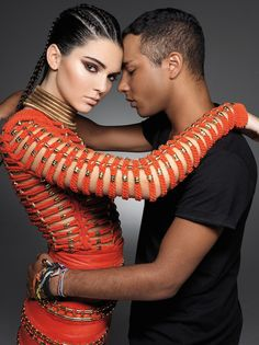 Kendall Jenner and Olivier Rousteing in Balmain for Sunday Times Style