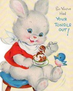 "Vintage ""So You've Had Your Tonsils Out"" card...unique!"