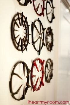 old stove grates into wall art