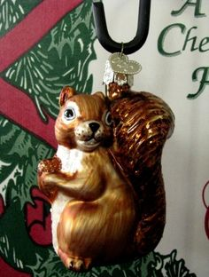 Merck Family Old World Christmas 'The Squirrel' retired blown glass ornament ... off to a new home!