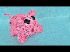 "Rainbow Loom Charms 3D ""Piggy Bank"" with loom bands (DIY Mommy)"