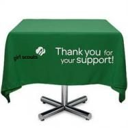 scout idea, printabl girl, cooki booth, girlscout, girl scout, booth tabl, scout booth, green tablecloth, booth idea