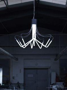 Industrial And Minimalist Neon Chandeliers | DigsDigs
