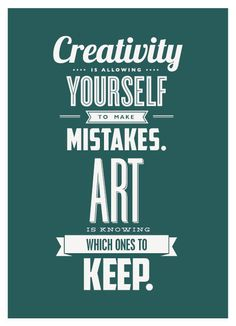 Creativity & Art  Typographic Letterpress Postcard #graphicdesign #typography #fonts art quotes, make art, graphic design typography, typography fonts, typography poster, creative arts, the artist, creativity quotes, poster designs