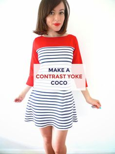 Tilly and the Buttons: Make It Your Own: Contrast Yoke Coco Variation
