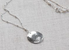 child's fingerprint necklace