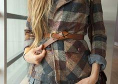 Check material / grey blu brown / autumn