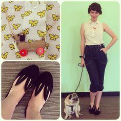 Pug & Minna Parikka - Little Bunny Shoe Shoe Flat in Black
